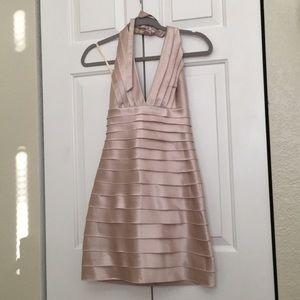 Bcbg champagne party dress